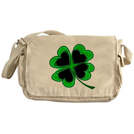 Lucky Four Leaf Clover Messenger Bag