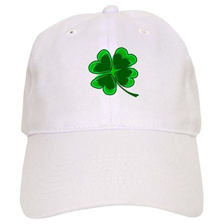 Lucky Four Leaf Clover Cap