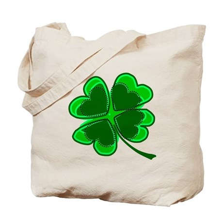 Lucky Four Leaf Clover Tote Bag