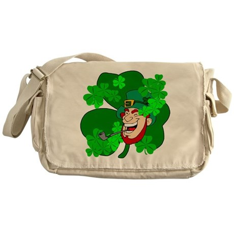 Leprechaun Shamrocks Messenger Bag