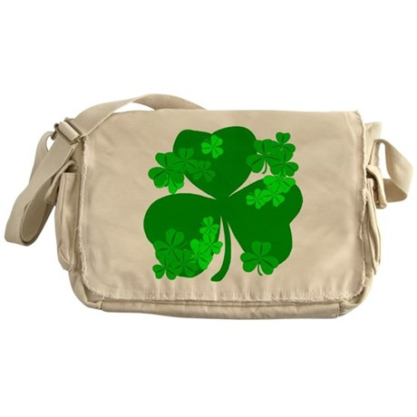 Lucky Irish Shamrocks Messenger Bag