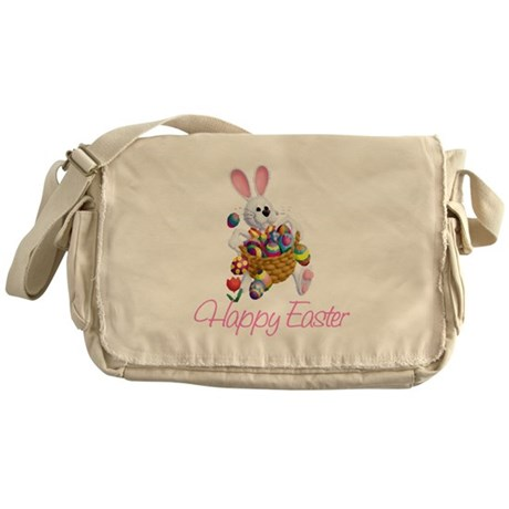 Happy Easter Bunny Messenger Bag