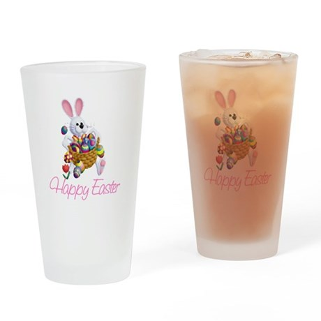 Happy Easter Bunny Drinking Glass