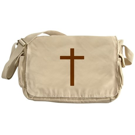 Brown Cross Messenger Bag