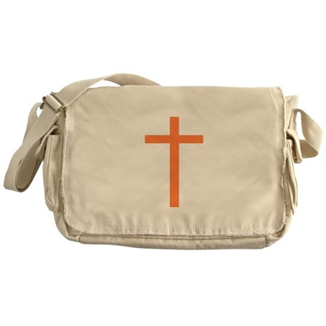 Orange Cross Messenger Bag
