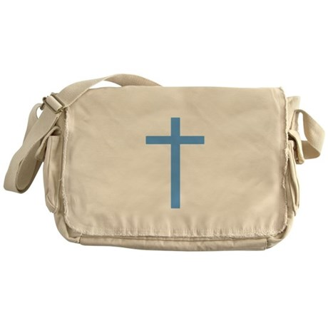 Blue Cross Messenger Bag