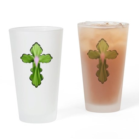 Holy Spirit Cross Drinking Glass