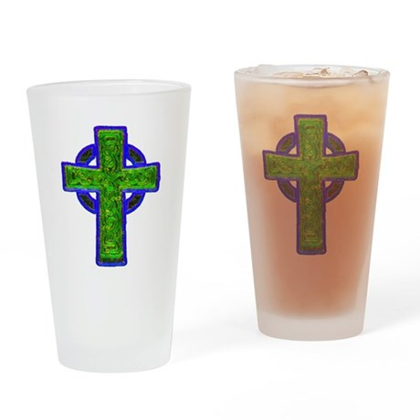 Celtic Cross Drinking Glass