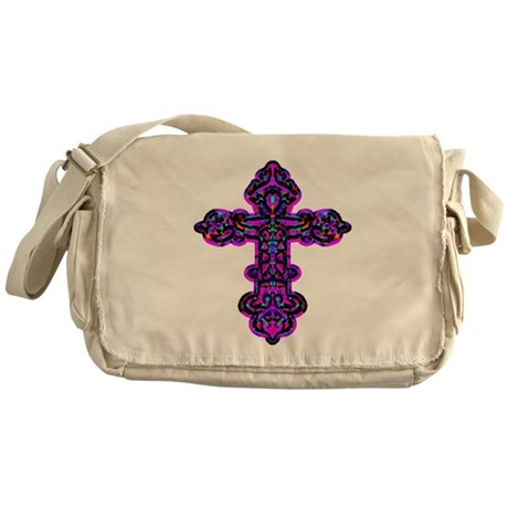 Ornate Cross Messenger Bag