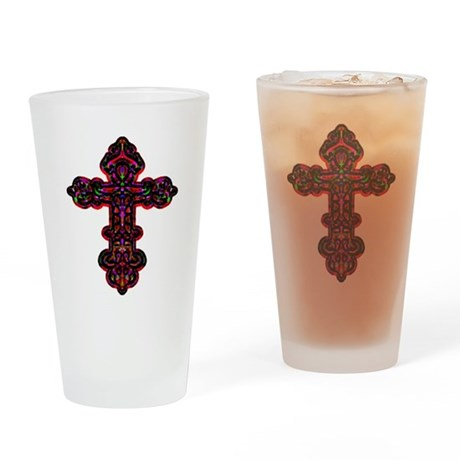 Ornate Cross Drinking Glass