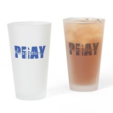 Real Men Pray - Azure Drinking Glass
