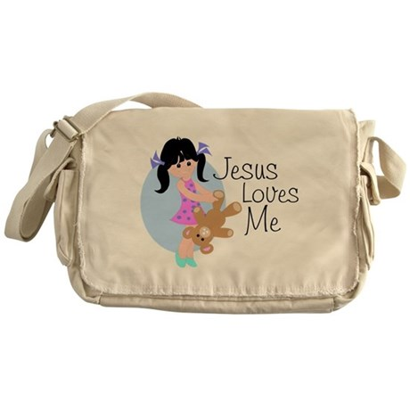 Jesus Loves Me Messenger Bag