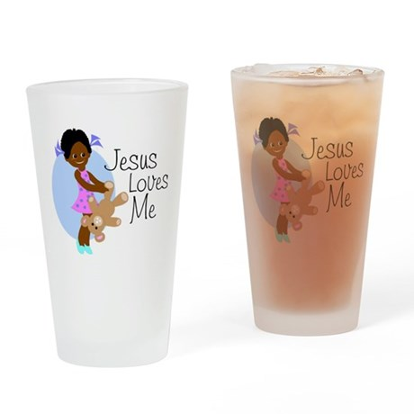 Jesus Loves Me Drinking Glass