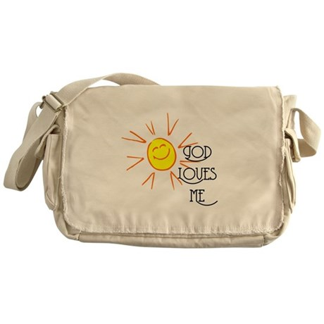 God Loves Me Messenger Bag