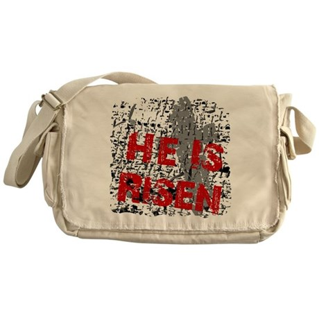 He is Risen Messenger Bag