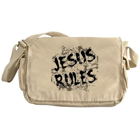 Jesus Rules Messenger Bag