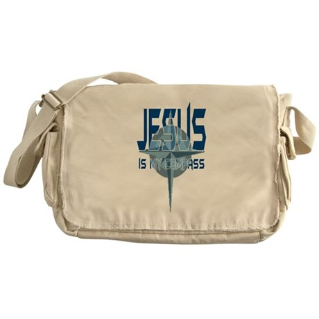 Jesus is My Compass Messenger Bag