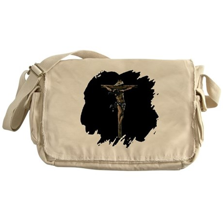Jesus on the Cross Messenger Bag