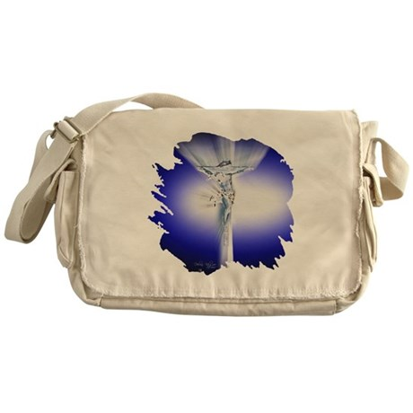 Jesus on Cross Messenger Bag
