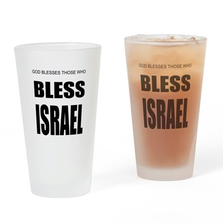 Bless Israel Drinking Glass