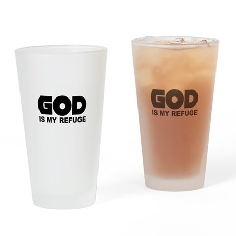 God's Refuge Drinking Glass
