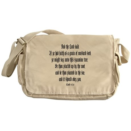 Luke 17:6 Messenger Bag
