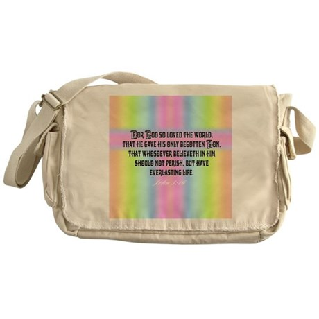 John 3:16 Rainbow Messenger Bag