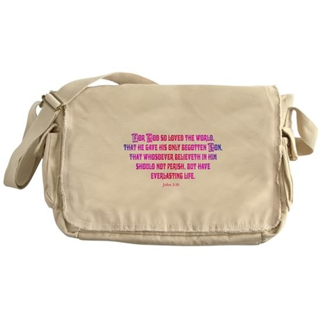 John 3:16 Rainbow II Messenger Bag