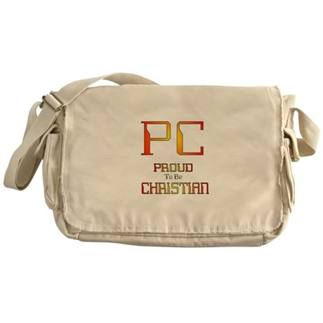 Proud to be Christian Messenger Bag