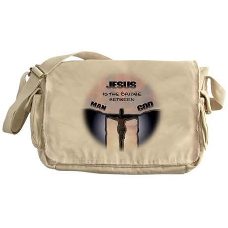 Jesus is the Bridge Messenger Bag