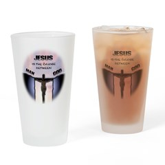 Jesus is the Bridge Drinking Glass