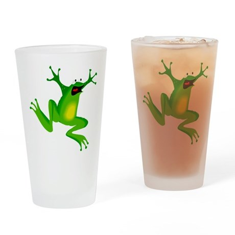 Feeling Froggy Drinking Glass