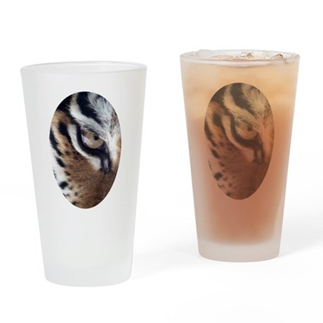 Tiger Eye Drinking Glass