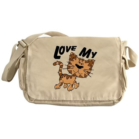 Love My Cat Messenger Bag