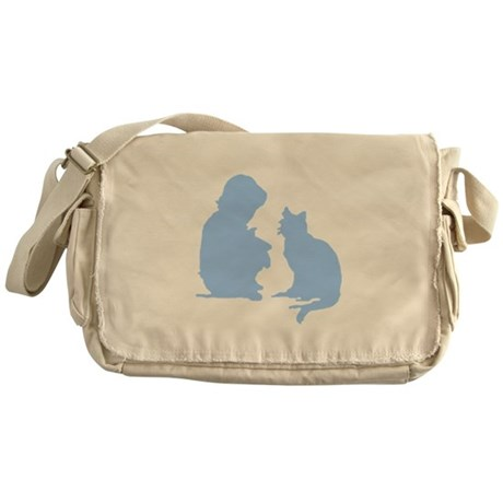 Child and Cat Messenger Bag
