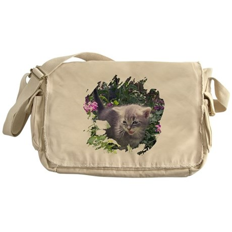 Flower Kitten Messenger Bag