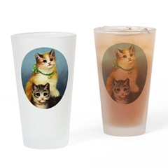Cute Kittens Drinking Glass