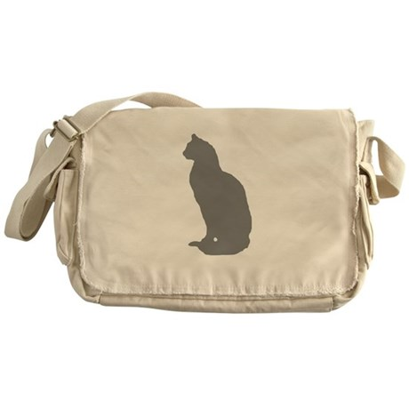 Grey Cat Messenger Bag