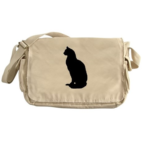 Cat Silhouette Messenger Bag