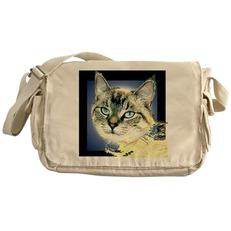 Blue Eyed Kitten Messenger Bag