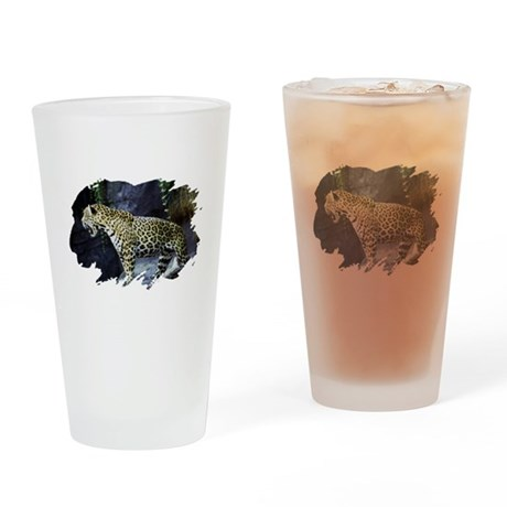 Jaguar Drinking Glass