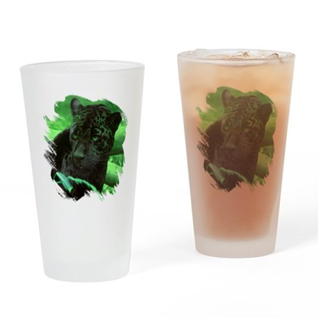 Black Jaguar Drinking Glass
