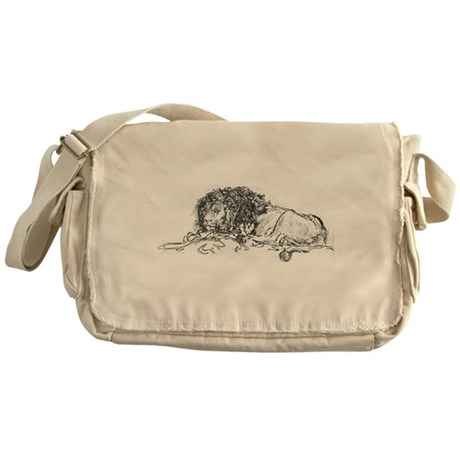 Lion Sketch Messenger Bag