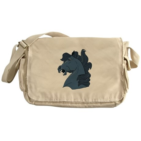 Blue Horse Messenger Bag