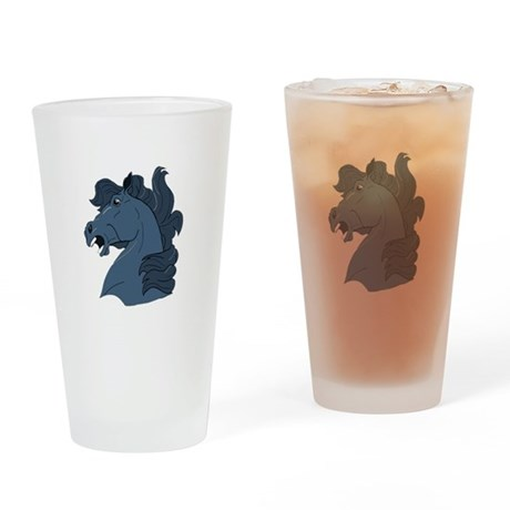 Blue Horse Drinking Glass
