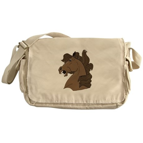 Brown Horse Messenger Bag