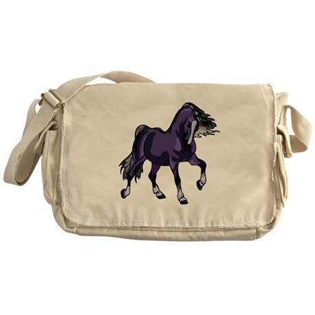 Fantasy Horse Purple Messenger Bag