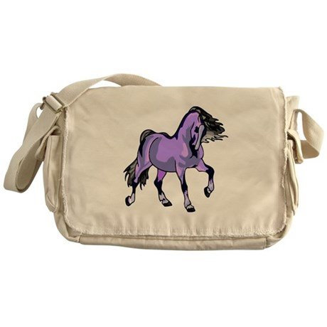 Fantasy Horse Lilac Messenger Bag