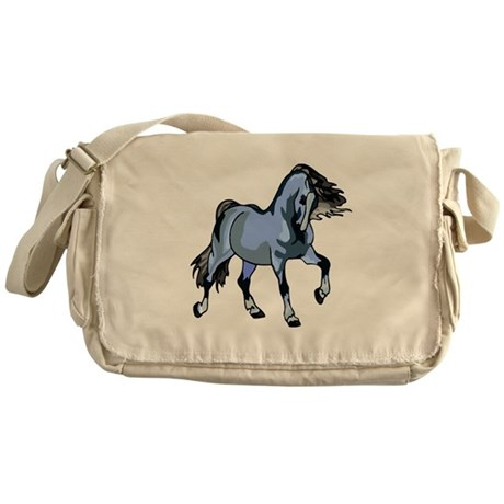 Fantasy Horse Light Blue Messenger Bag