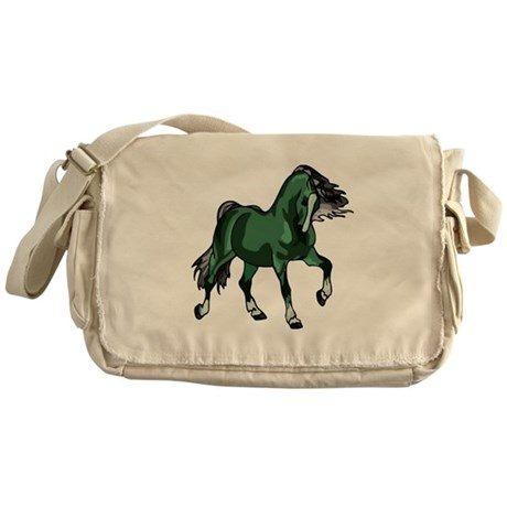 Fantasy Horse Green Messenger Bag